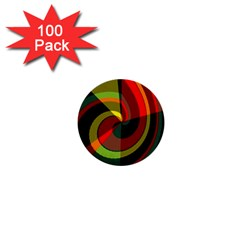 Spiral 1  Mini Button (100 Pack)  by LalyLauraFLM