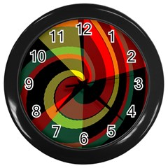 Spiral Wall Clock (black) by LalyLauraFLM