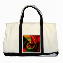 Spiral Two Tone Tote Bag by LalyLauraFLM