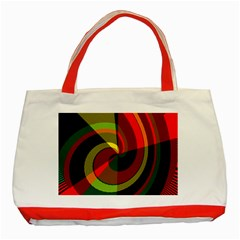 Spiral Classic Tote Bag (red) by LalyLauraFLM