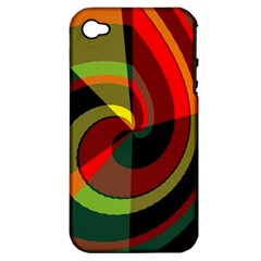 Spiral Apple Iphone 4/4s Hardshell Case (pc+silicone) by LalyLauraFLM