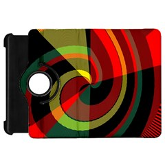 Spiral	kindle Fire Hd Flip 360 Case by LalyLauraFLM