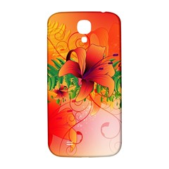 Awesome Red Flowers With Leaves Samsung Galaxy S4 I9500/i9505  Hardshell Back Case by FantasyWorld7