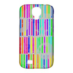 Colorful Vintage Stripes Samsung Galaxy S4 Classic Hardshell Case (pc+silicone) by LalyLauraFLM
