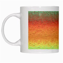 Gradient Chaos White Mug by LalyLauraFLM