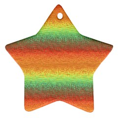 Gradient Chaos Star Ornament (two Sides) by LalyLauraFLM