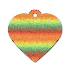 Gradient Chaos Dog Tag Heart (two Sides) by LalyLauraFLM