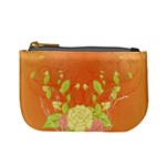 Beautiful Flowers In Soft Colors Mini Coin Purses Front