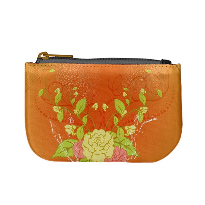 Beautiful Flowers In Soft Colors Mini Coin Purses