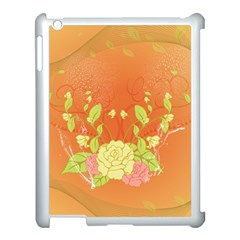 Beautiful Flowers In Soft Colors Apple Ipad 3/4 Case (white) by FantasyWorld7