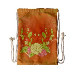 Beautiful Flowers In Soft Colors Drawstring Bag (small) by FantasyWorld7