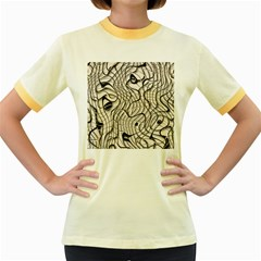 Ribbon Chaos 2  Women s Fitted Ringer T Shirts by ImpressiveMoments