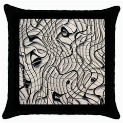 Ribbon Chaos 2  Throw Pillow Cases (black) by ImpressiveMoments