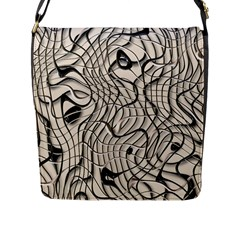 Ribbon Chaos 2  Flap Messenger Bag (L)