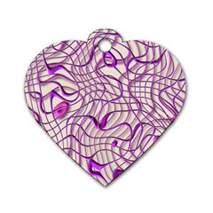 Ribbon Chaos 2 Lilac Dog Tag Heart (one Side) by ImpressiveMoments