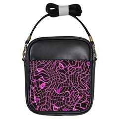 Ribbon Chaos 2 Pink Girls Sling Bags by ImpressiveMoments