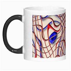 Ribbon Chaos 2 Red Blue Morph Mugs by ImpressiveMoments