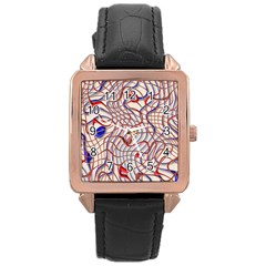 Ribbon Chaos 2 Red Blue Rose Gold Watches by ImpressiveMoments