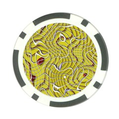 Ribbon Chaos 2 Yellow Poker Chip Card Guards by ImpressiveMoments