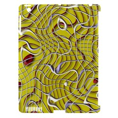 Ribbon Chaos 2 Yellow Apple Ipad 3/4 Hardshell Case (compatible With Smart Cover) by ImpressiveMoments