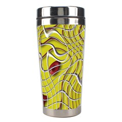 Ribbon Chaos 2 Yellow Stainless Steel Travel Tumblers by ImpressiveMoments