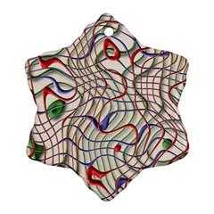 Ribbon Chaos 2 Ornament (snowflake)