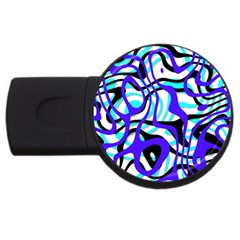 Ribbon Chaos Ocean Usb Flash Drive Round (4 Gb)  by ImpressiveMoments