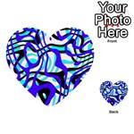 Ribbon Chaos Ocean Multi-purpose Cards (Heart)  Front 12