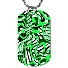 Ribbon Chaos Green Dog Tag (one Side) by ImpressiveMoments