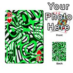 Ribbon Chaos Green Playing Cards 54 Designs  Front - Heart10