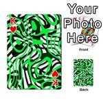 Ribbon Chaos Green Playing Cards 54 Designs  Front - HeartK