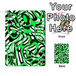 Ribbon Chaos Green Playing Cards 54 Designs  Front - Spade5