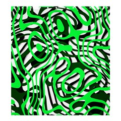 Ribbon Chaos Green Shower Curtain 66  X 72  (large)