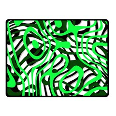 Ribbon Chaos Green Fleece Blanket (small) by ImpressiveMoments