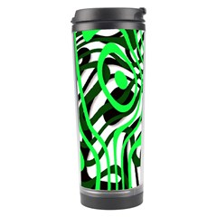 Ribbon Chaos Green Travel Tumblers by ImpressiveMoments