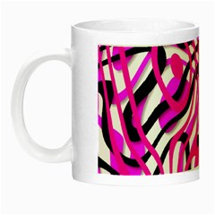 Ribbon Chaos Pink Night Luminous Mugs by ImpressiveMoments