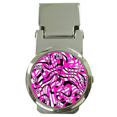 Ribbon Chaos Pink Money Clip Watches by ImpressiveMoments