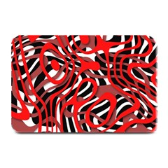Ribbon Chaos Red Plate Mats by ImpressiveMoments