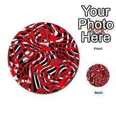 Ribbon Chaos Red Multi-purpose Cards (Round)