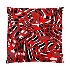 Ribbon Chaos Red Standard Cushion Case (one Side)  by ImpressiveMoments