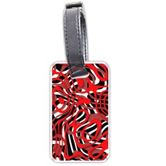 Ribbon Chaos Red Luggage Tags (two Sides) by ImpressiveMoments