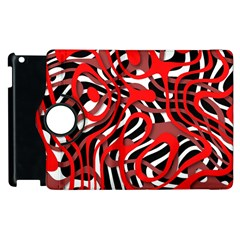 Ribbon Chaos Red Apple Ipad 2 Flip 360 Case by ImpressiveMoments