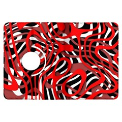 Ribbon Chaos Red Kindle Fire HDX Flip 360 Case by ImpressiveMoments