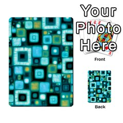 Teal Squares Multi Purpose Cards (rectangle)