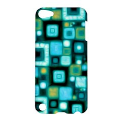 Teal Squares Apple Ipod Touch 5 Hardshell Case by KirstenStar