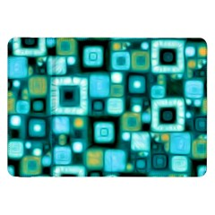 Teal Squares Samsung Galaxy Tab 8 9  P7300 Flip Case by KirstenStar