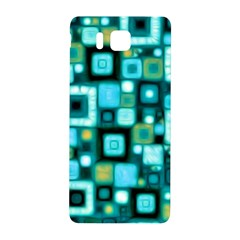 Teal Squares Samsung Galaxy Alpha Hardshell Back Case by KirstenStar
