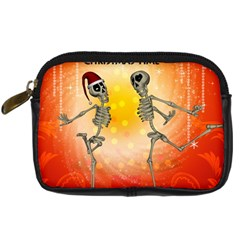 Dancing For Christmas, Funny Skeletons Digital Camera Cases by FantasyWorld7