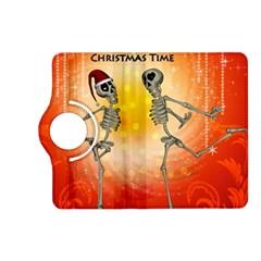 Dancing For Christmas, Funny Skeletons Kindle Fire Hd (2013) Flip 360 Case by FantasyWorld7