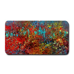 Abstract in Red, Turquoise, and Yellow Medium Bar Mats by theunrulyartist